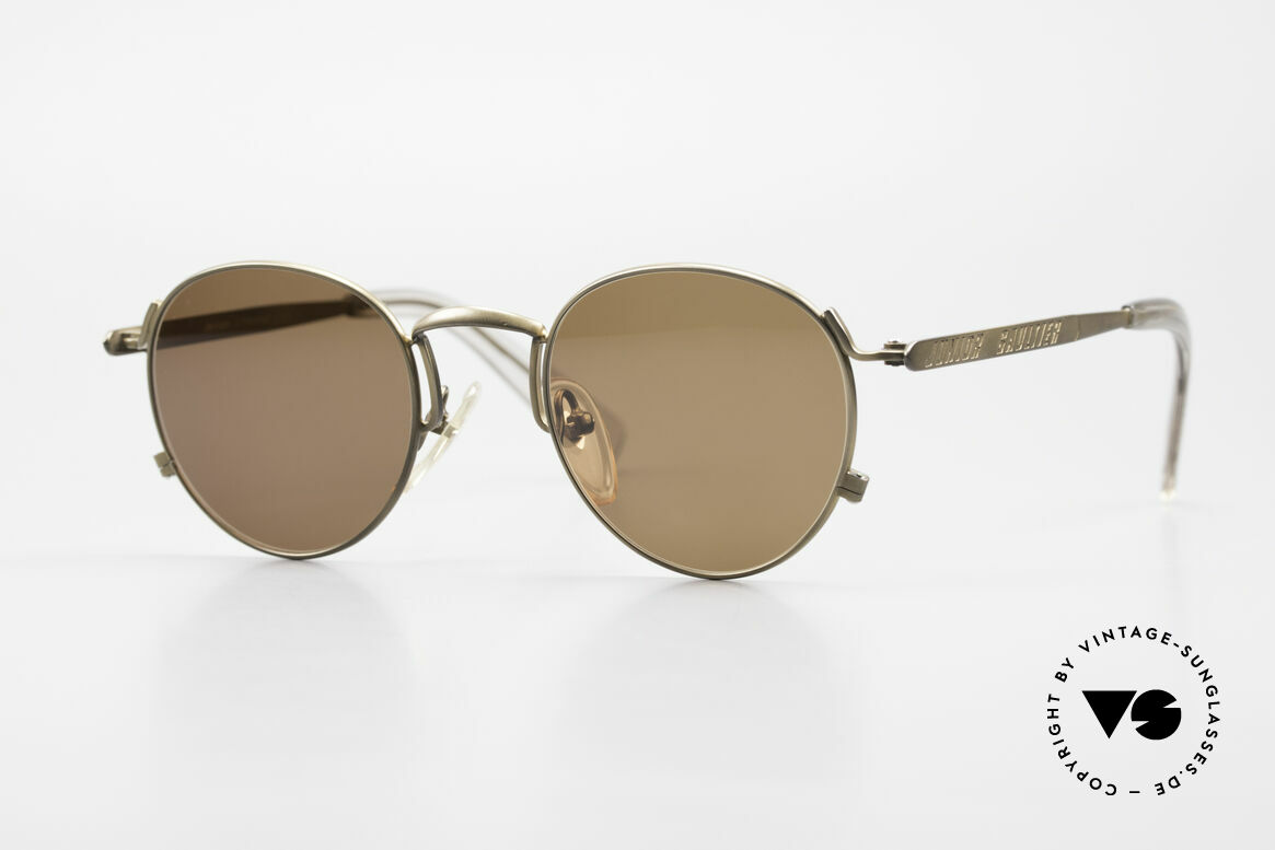 Jean Paul Gaultier 57-1171 90's JPG Designer Sunglasses, high-end round designer shades by J.P. Gaultier, Made for Men and Women