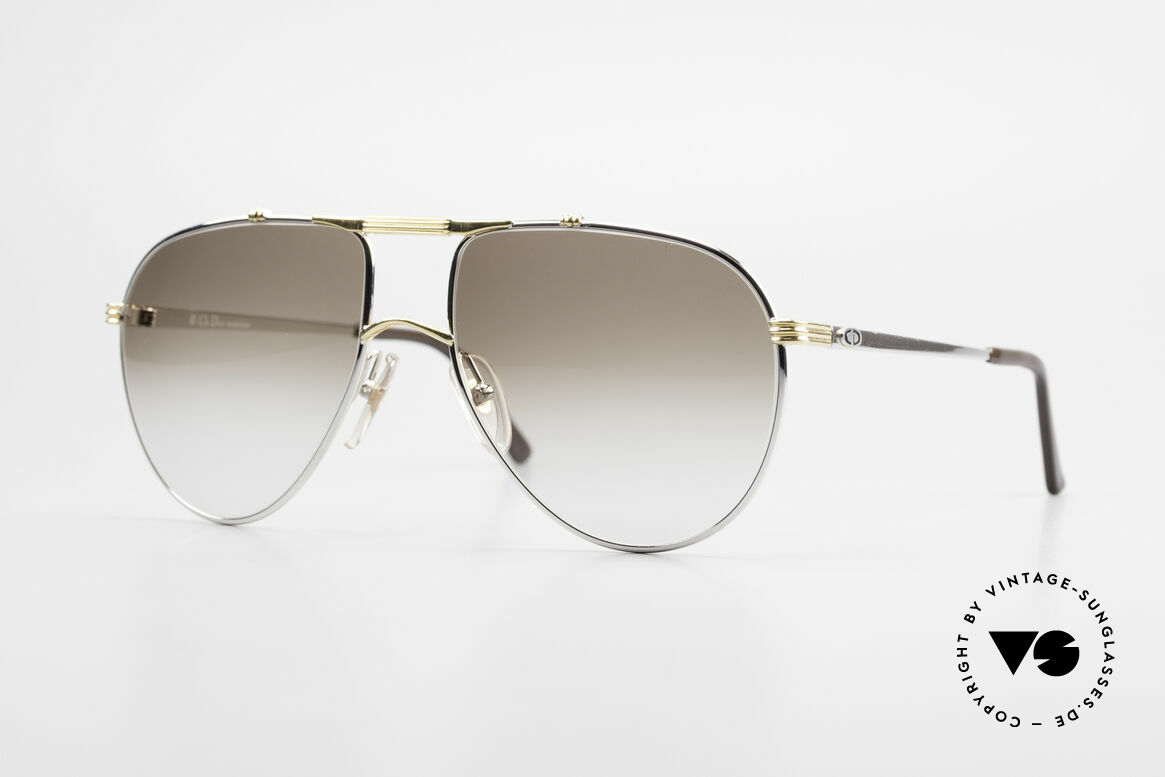 "Christian Dior 2248 Large 80's Aviator Sunglasses, noble shades of the ""Monsieur""-series by Christian Dior, Made for Men"