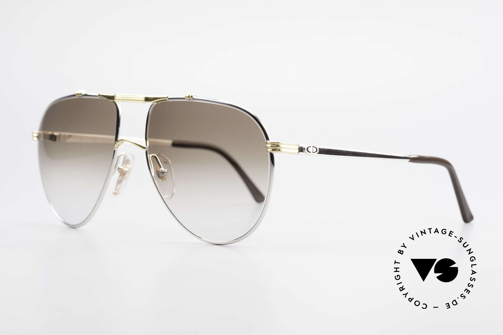 Christian Dior 2248 Large 80's Aviator Sunglasses, new old stock (like all our rare vintage C. Dior eyewear), Made for Men