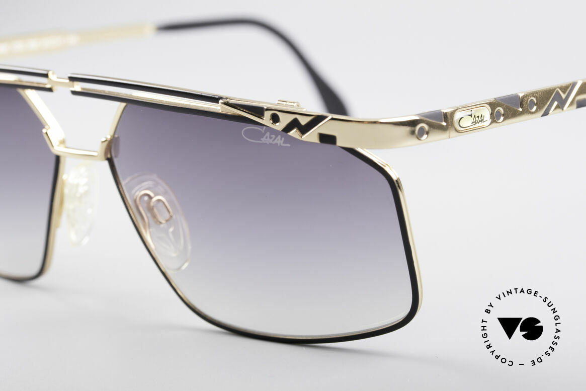 Cazal 966 90's Men's Designer Shades, great metalwork & interesting frame pattern, top!, Made for Men