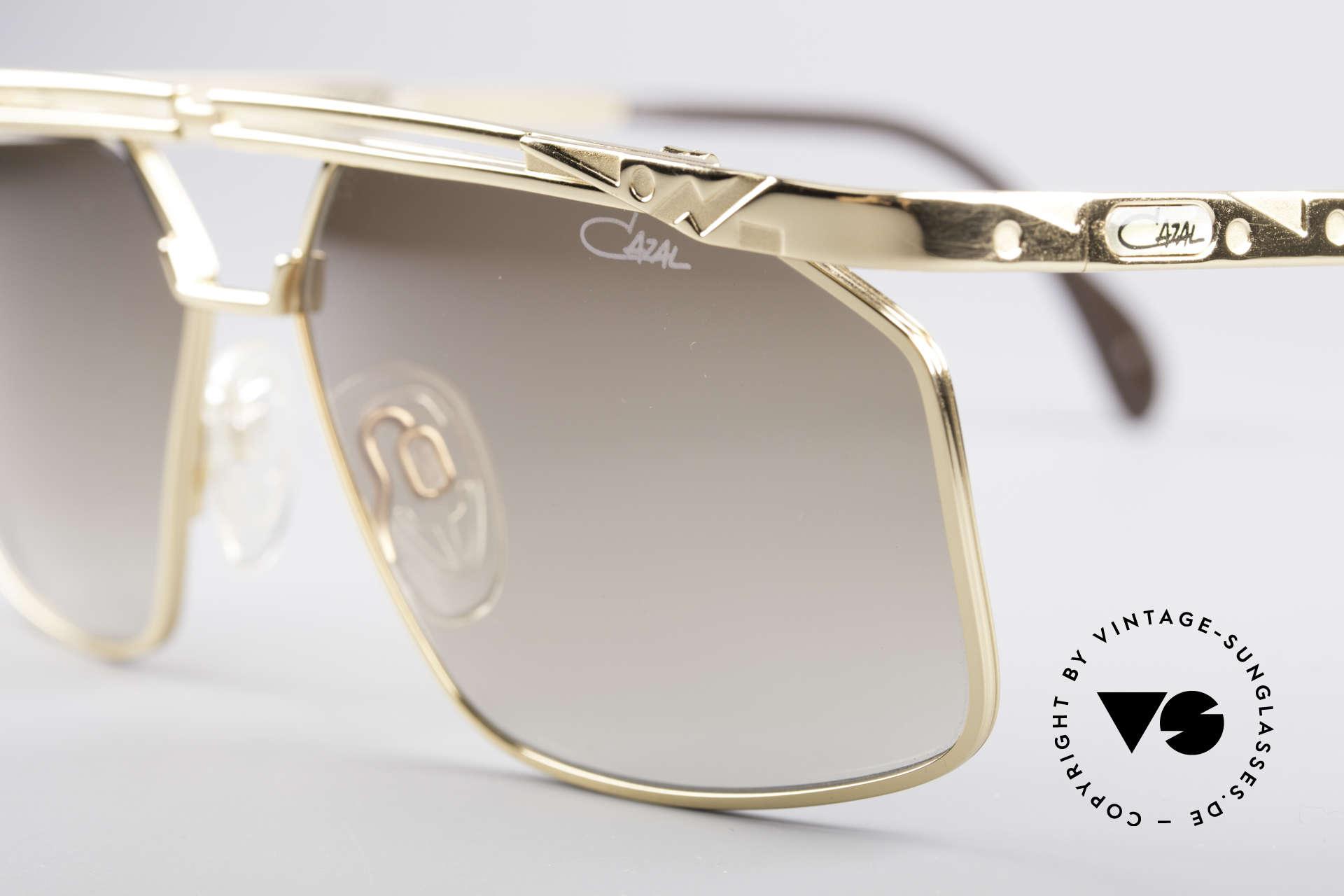 Cazal 966 90's Men's Designer Shades, great metalwork & interesting frame pattern, top!, Made for Men