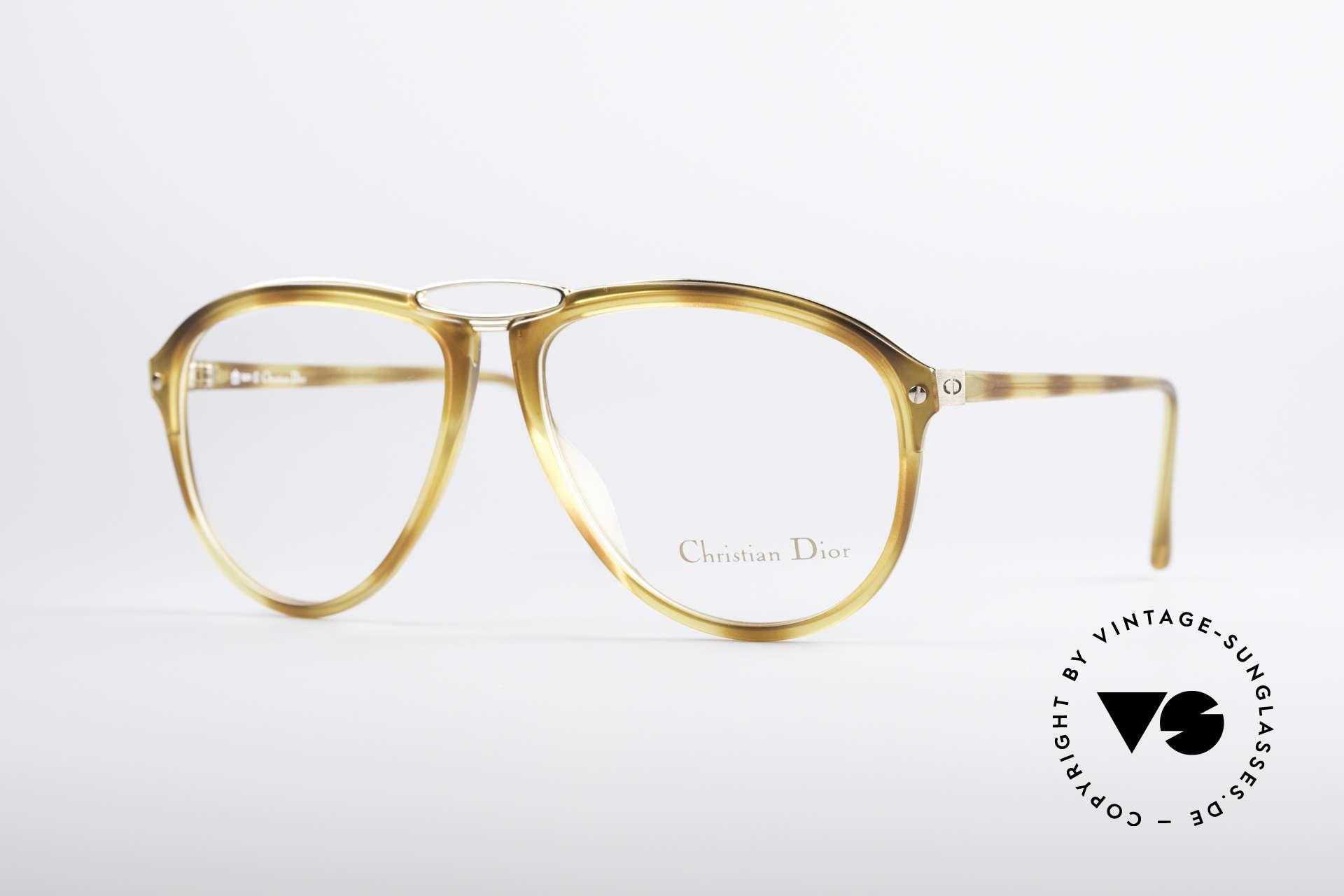 Christian Dior 2523 80's No Retro Glasses Men, unique vintage designer glasses by Christian Dior, Made for Men
