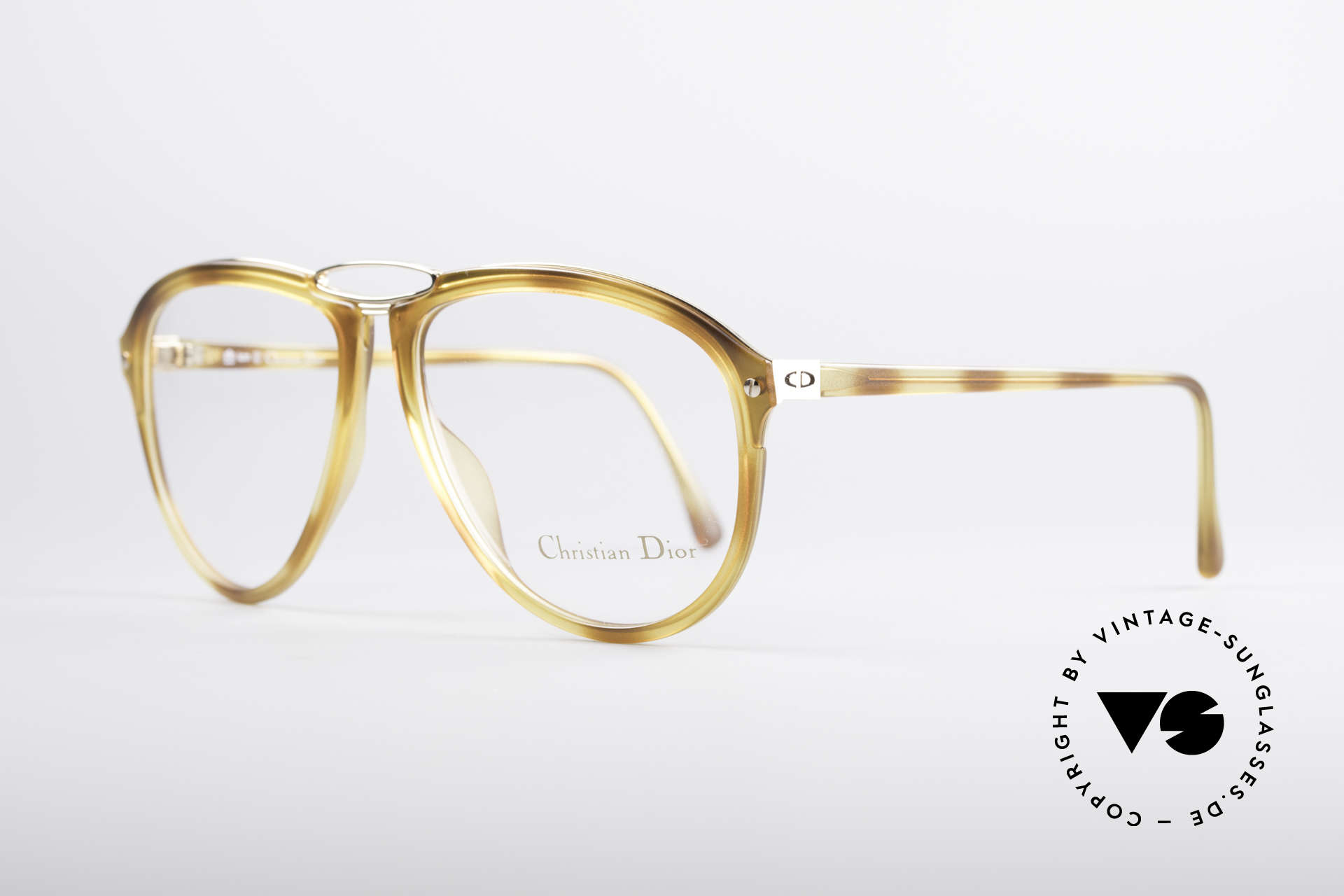 Christian Dior 2523 80's No Retro Glasses Men, flexible synthetic (OPTYL) frame with a metal inlay, Made for Men