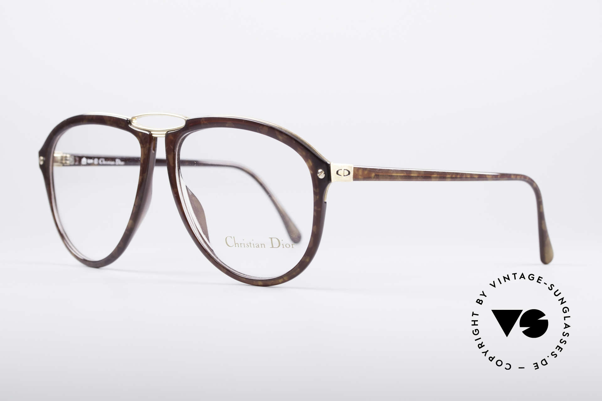 Christian Dior 2523 80's No Retro Glasses, flexible synthetic (OPTYL) frame with a metal inlay, Made for Men