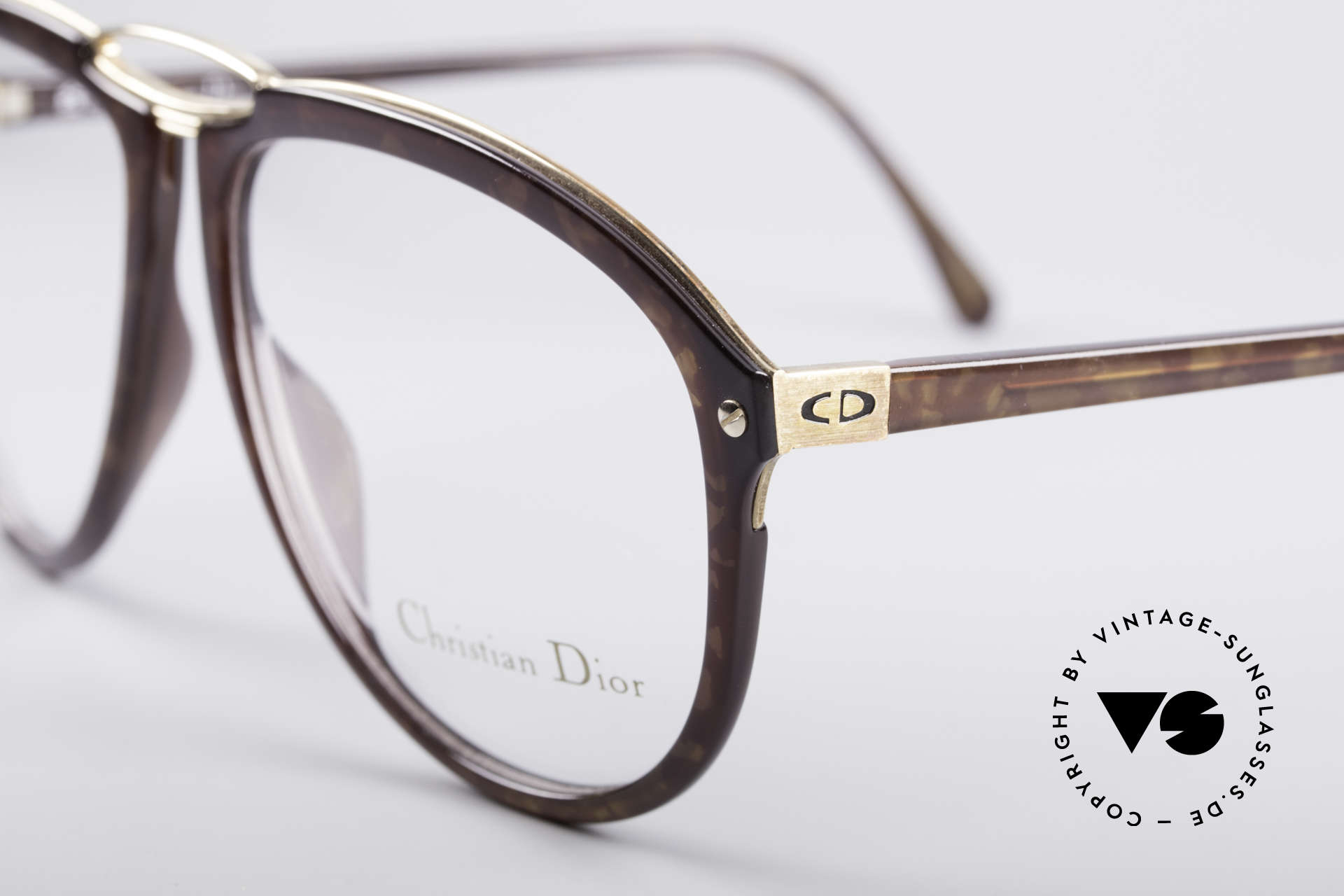 Christian Dior 2523 80's No Retro Glasses, tangible premium craftsmanship (made in Germany), Made for Men