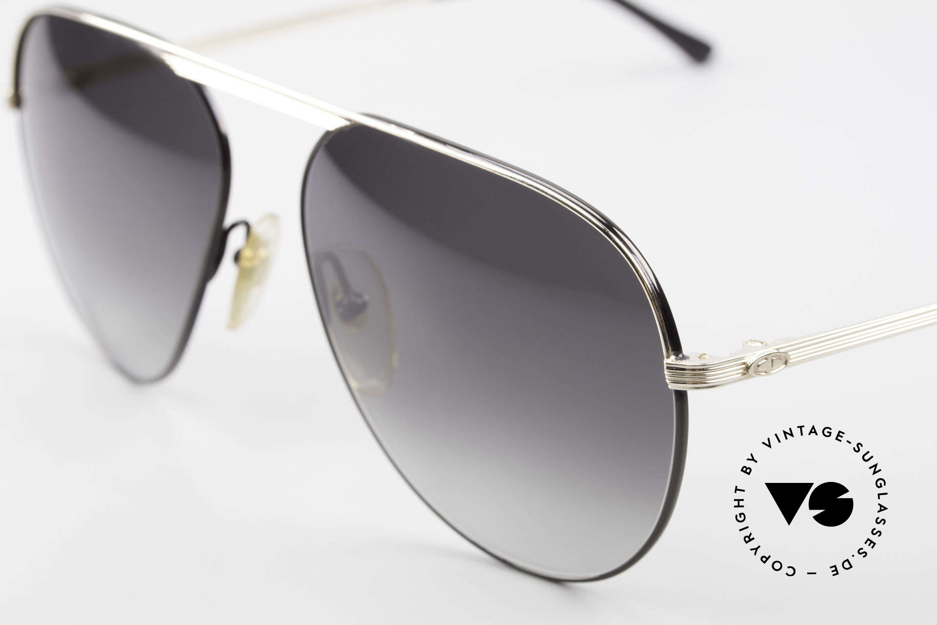 Christian Dior 2536 Rare 80's XXL Vintage Shades, noble gray-gradient lenses (100% UV protection), Made for Men