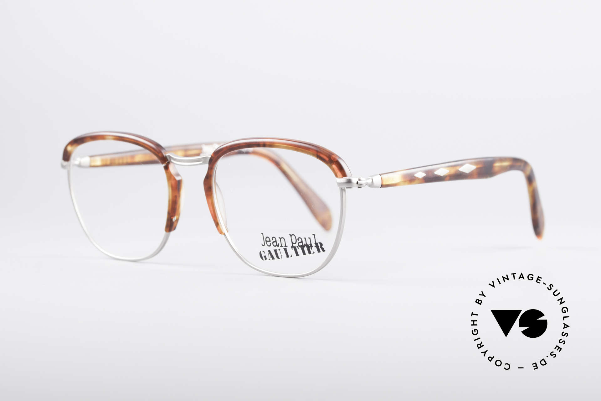 Jean Paul Gaultier 55-1273 Vintage 90's Specs, worth seeing material combination & crafting, Made for Men and Women