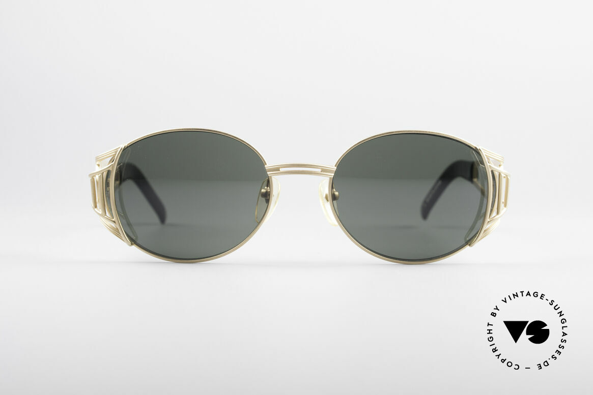 Jean Paul Gaultier 58-6102 Steampunk Designer Shades, sunglasses from 1997 with matt gold frame finish, Made for Men and Women