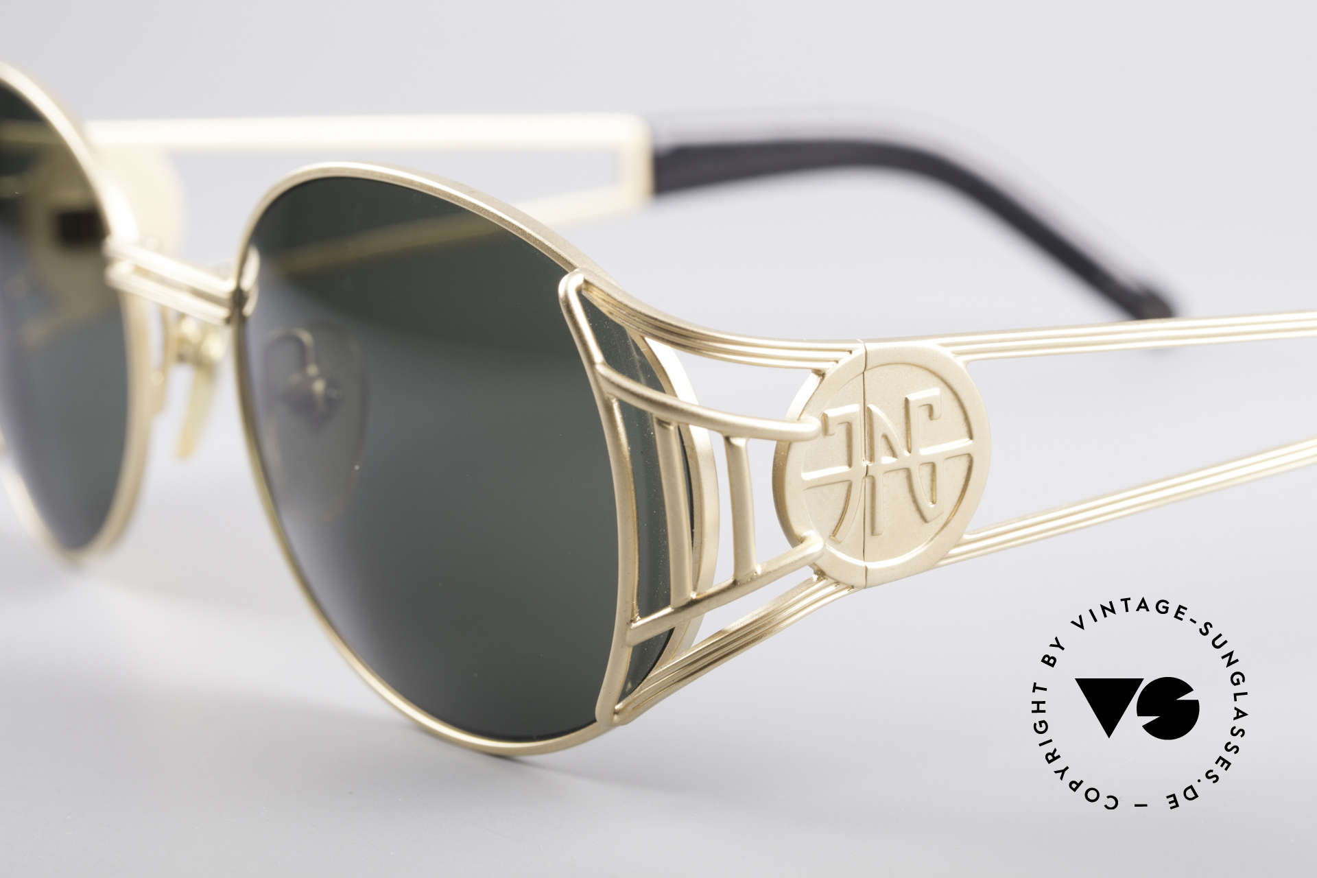 """Jean Paul Gaultier 58-6102 Steampunk Designer Shades, never worn (like all our """"old"""" Gaultier sunglasses), Made for Men and Women"""