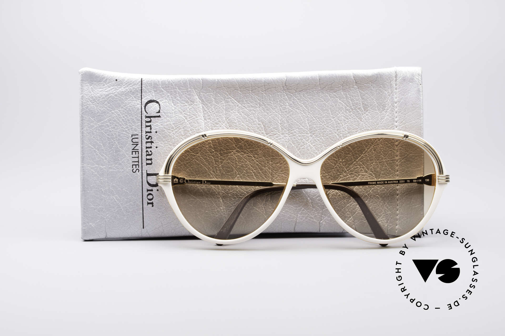 Christian Dior 2251 80's Ladies Shades, frame (XL size 59/14) fits prescription lenses, too, Made for Women