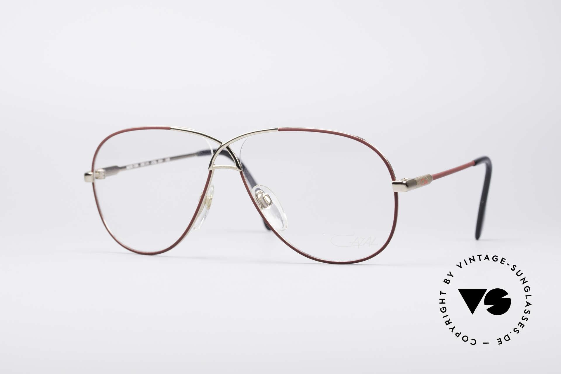 Cazal 728 Aviator Style Vintage Glasses, legendary aviator design from the 80's by Cazal, Made for Men and Women