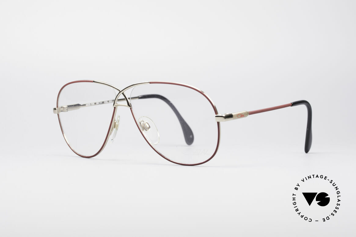 Cazal 728 Aviator Style Vintage Glasses, lightweight curved frame (very pleasant to wear), Made for Men and Women