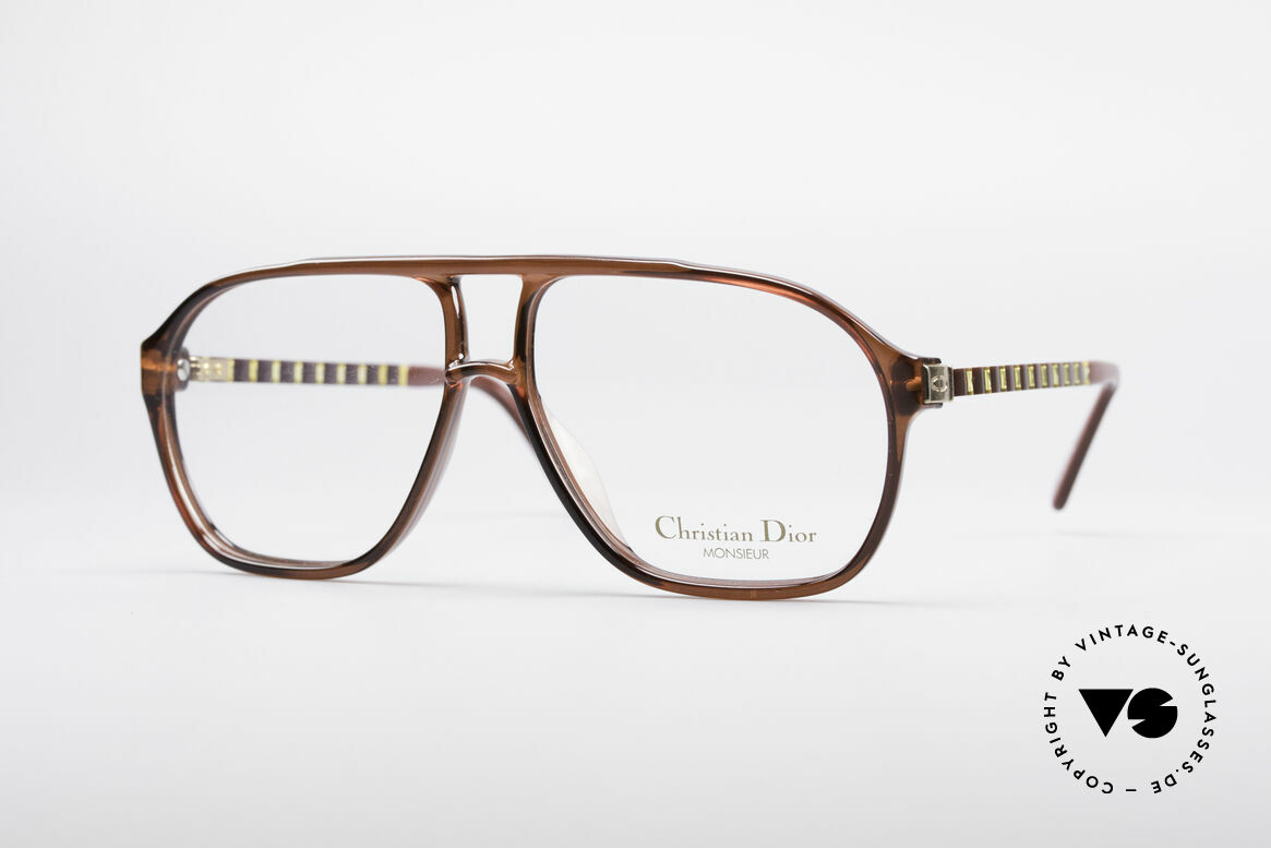 Christian Dior 2417 80's Men's Glasses Monsieur, masculine cool design by Christian Dior from 1988, Made for Men