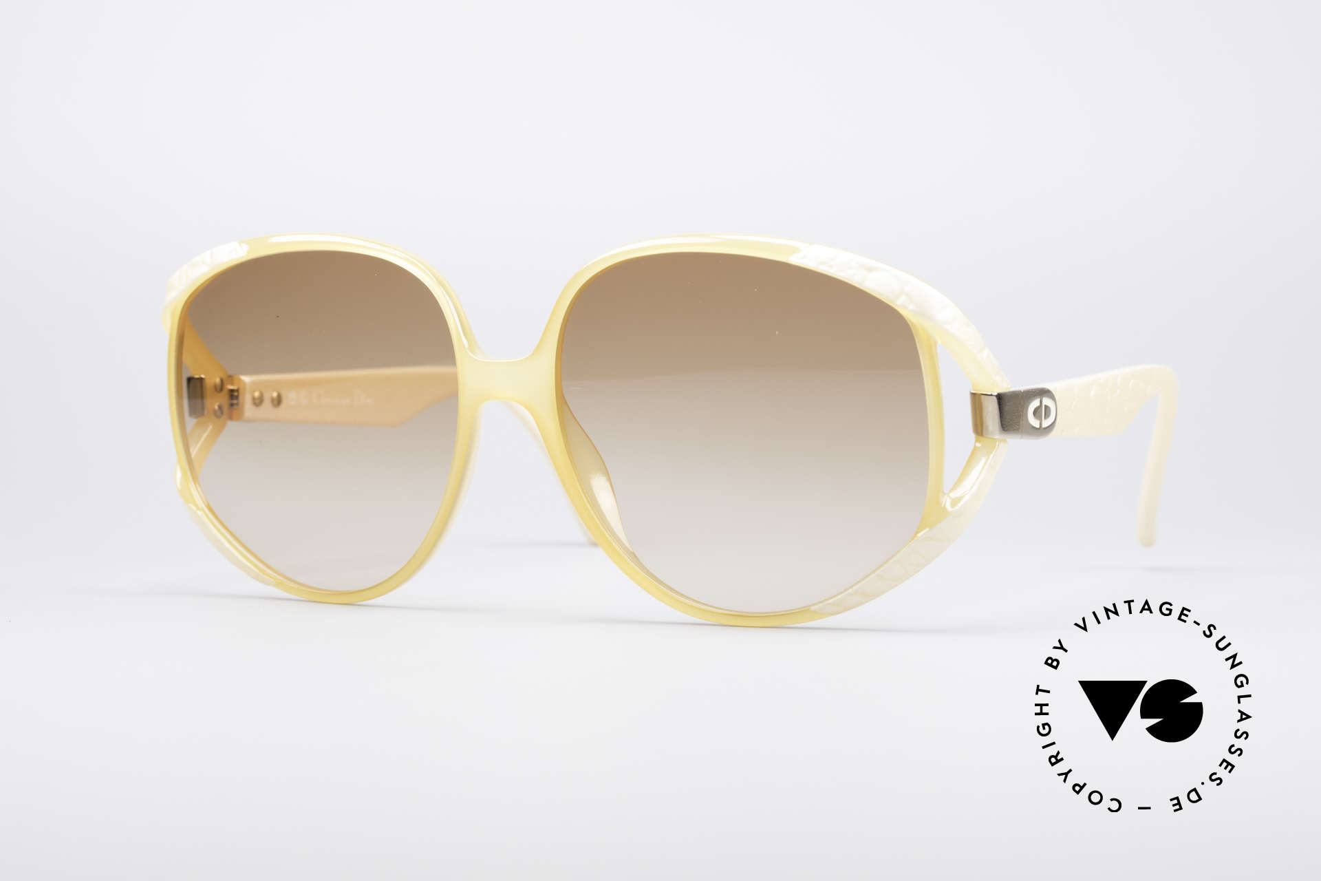Christian Dior 2320 Rare 80's Ladies XL Sunglasses, gigantic XXL shades by Christian Dior from 1987, Made for Women