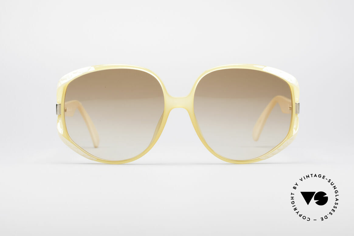 Christian Dior 2320 80's XL Sunglasses, flashy oversized frame with huge gradient lenses, Made for Women