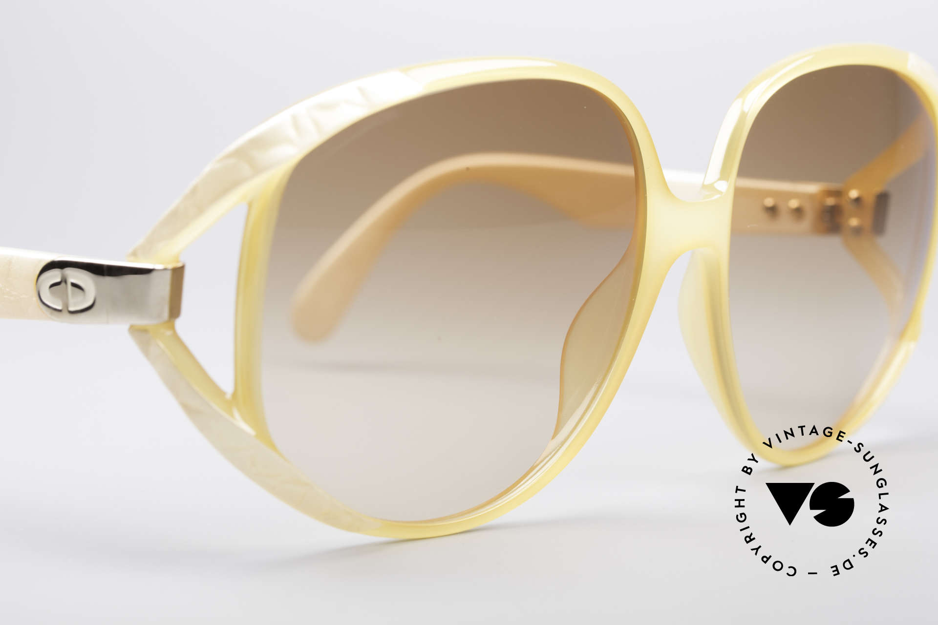 Christian Dior 2320 80's XL Sunglasses, NO RETRO sunglasses, but a 30 years old rarity !!, Made for Women