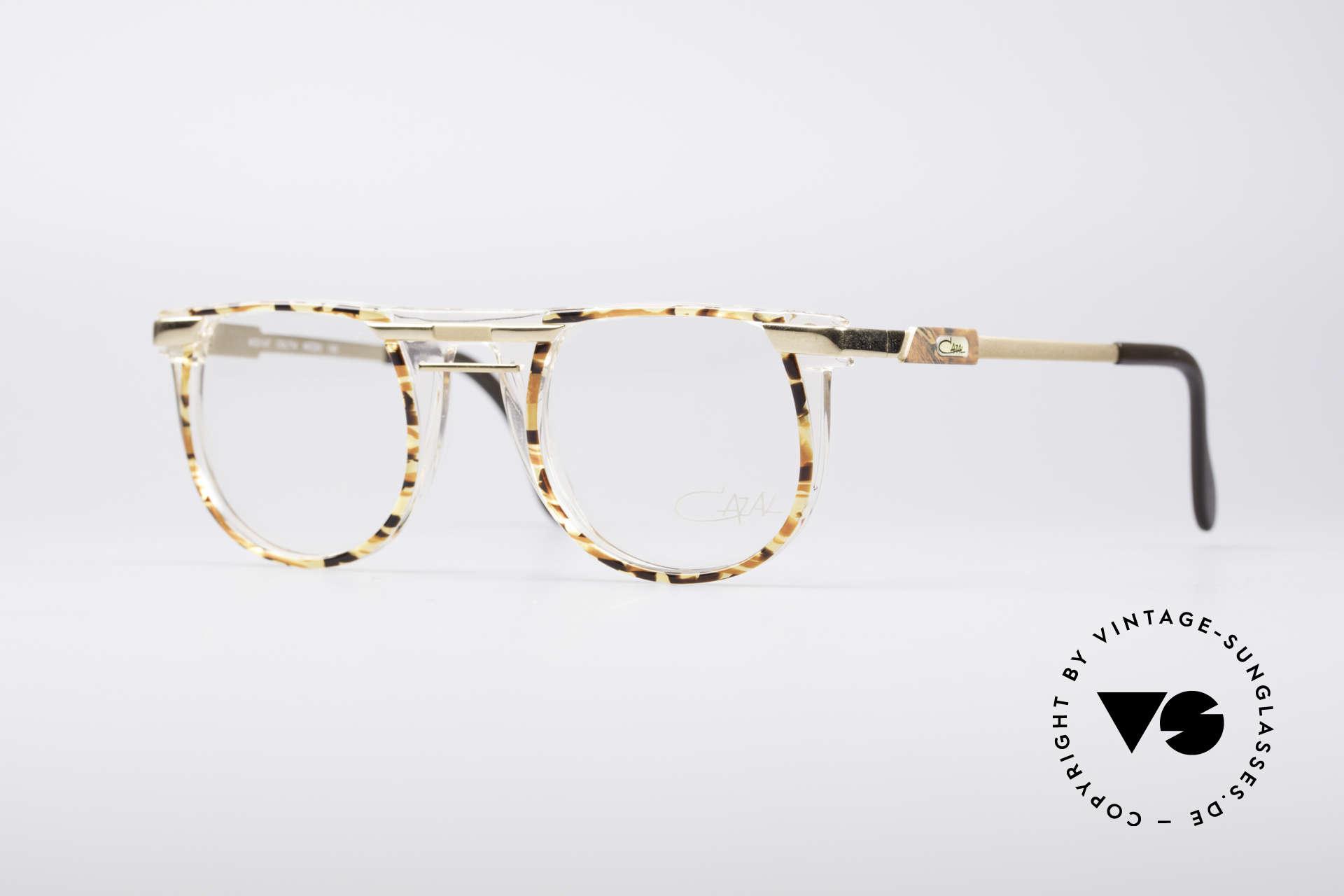 Cazal 647 90's Vintage Designer Specs, roundish 90's designer eyeglass-frame by CAZAL, Made for Men and Women