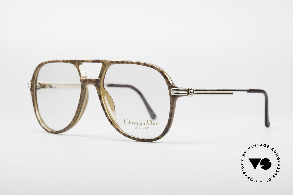Christian Dior 2301 80's Optyl Frame Monsieur, caramel-brown front & gold temples, S size 54/15, Made for Men
