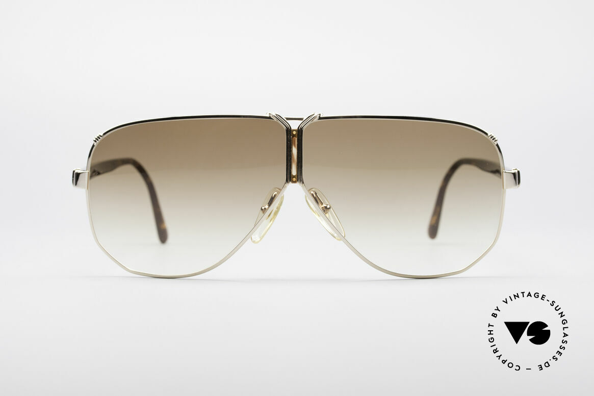 Christian Dior 2502 Panorama View Shades XXL, gold-plated frame with brown-gradient sun lenses, Made for Men
