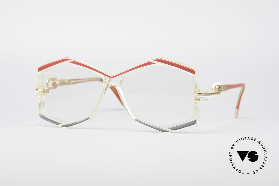 Cazal 180 80's Designer Glasses, hexangular Cazal designer eyeglasses from 1987, Made for Women