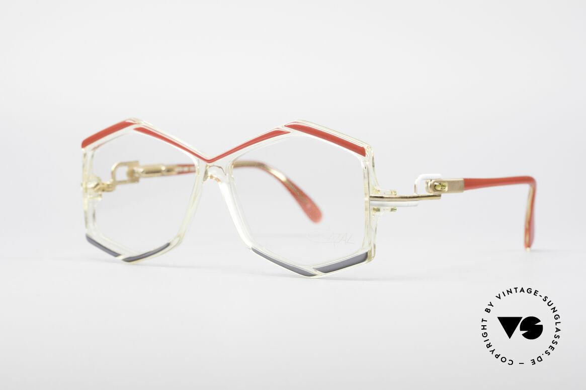 Cazal 180 80's Designer Glasses, extraordinary eye-catcher (typically vintage Cazal), Made for Women