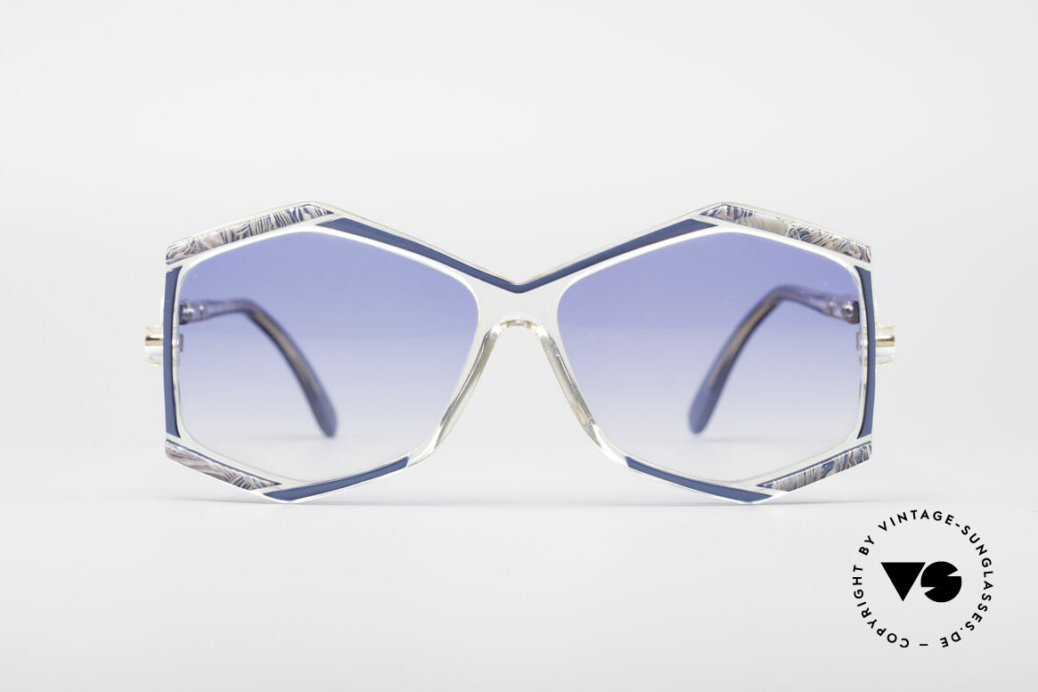 Cazal 180 80's Designer Shades, crystal clear frame with great colors; just unique!, Made for Women