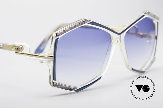 Cazal 180 80's Designer Shades, with blue-gradient sun lenses (100% UV protection), Made for Women