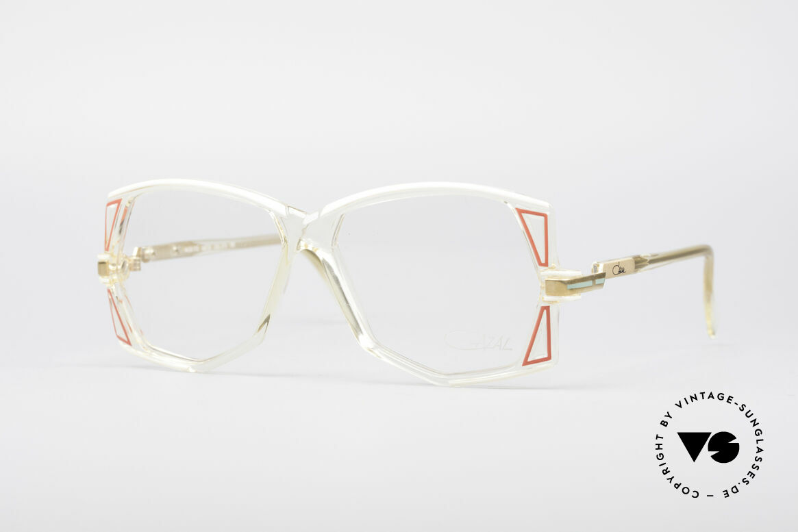 Cazal 172 Crystal Clear 80's Frame, rare 80's designer eyeglasses by Cazal (W.Germany), Made for Women