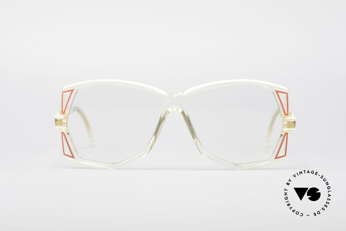 Cazal 172 Crystal Clear 80's Frame, crystal-clear plastic frame with terrific color accents, Made for Women