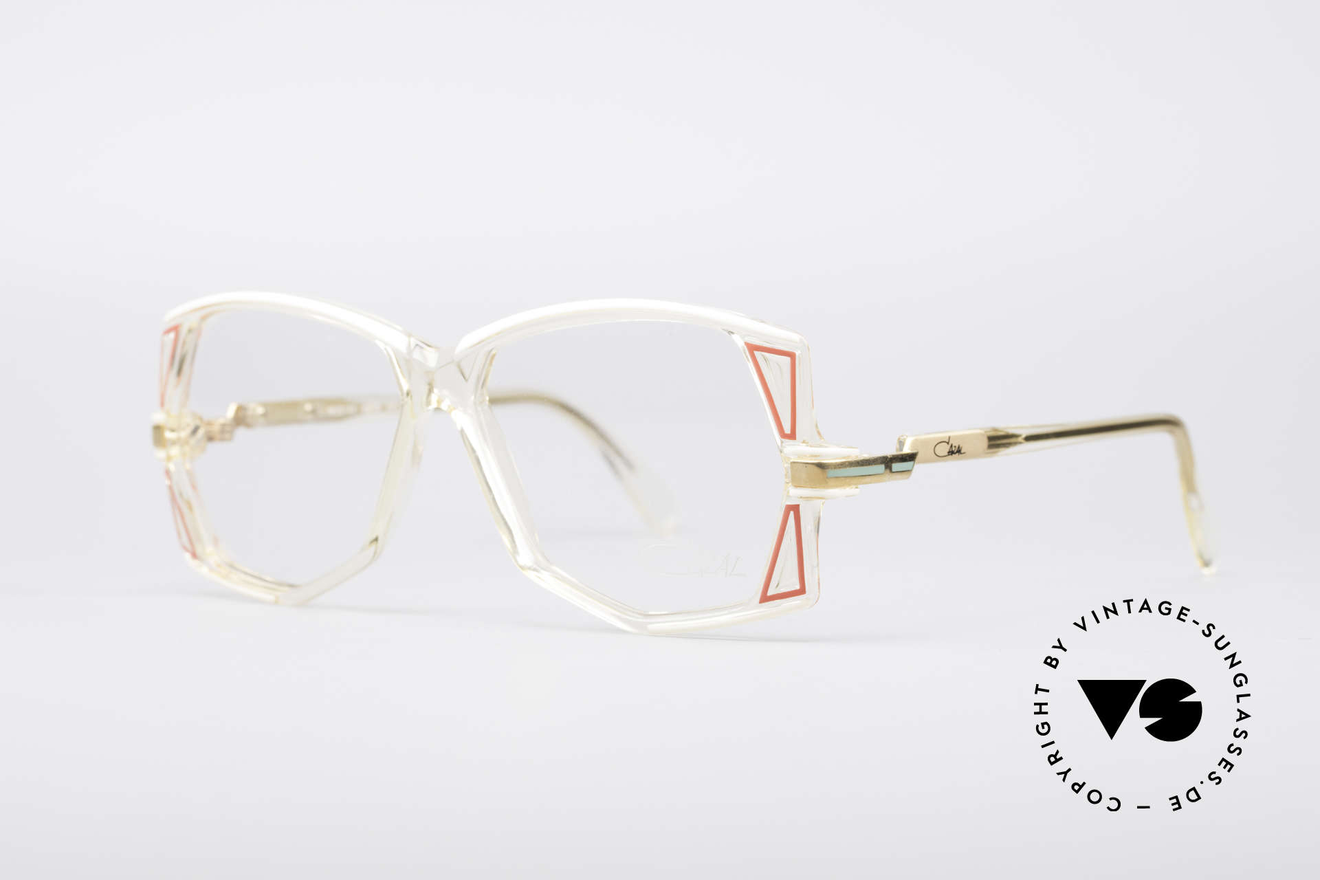 Cazal 172 Crystal Clear 80's Frame, characteristical for the old 1980's CAZAL 100series, Made for Women
