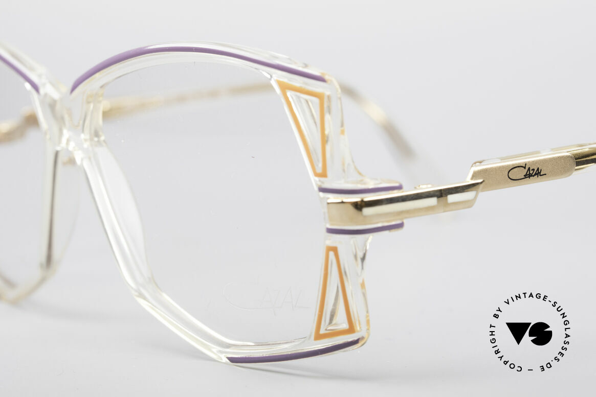 Cazal 172 Crystal Clear 80's Frame, new old stock (like all our vintage Designer-Cazals), Made for Women