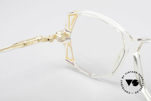Cazal 172 Crystal Clear 80's Frame, frame (medium size 57/13) can be glazed optionally, Made for Women