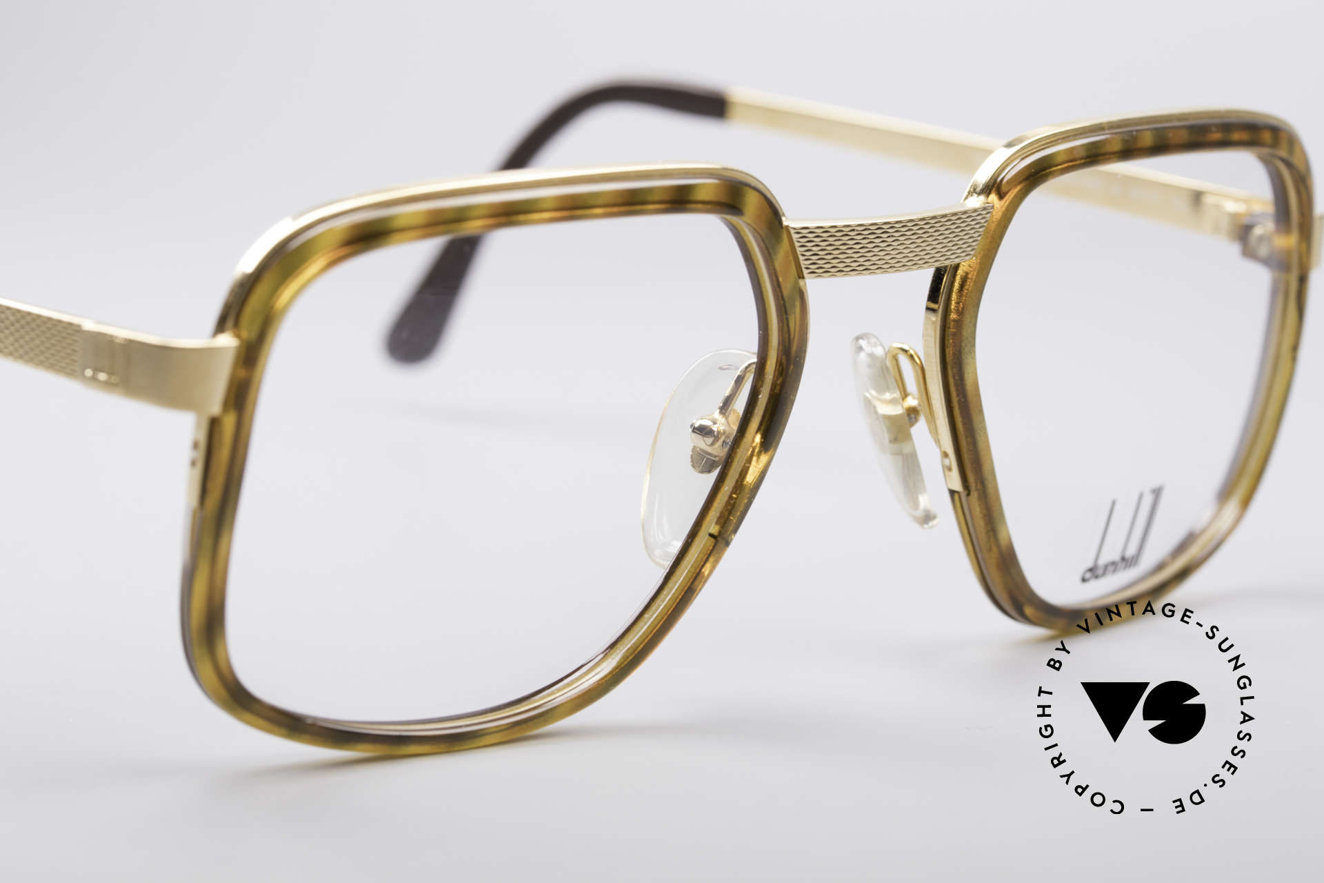Dunhill 6073 Gold Plated 80's Glasses, new old stock (like all our vintage A. Dunhill eyewear), Made for Men
