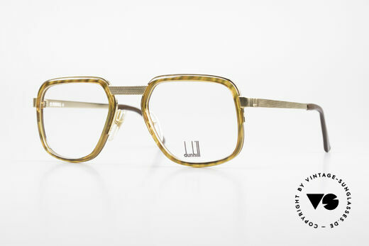 Dunhill 6073 Gold Plated 80's Glasses Men Details