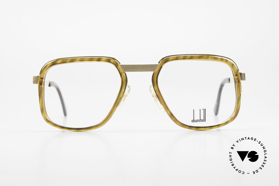 Dunhill 6073 Gold Plated 80's Glasses Men, striking Alfred Dunhill vintage eyeglasses from 1989, Made for Men