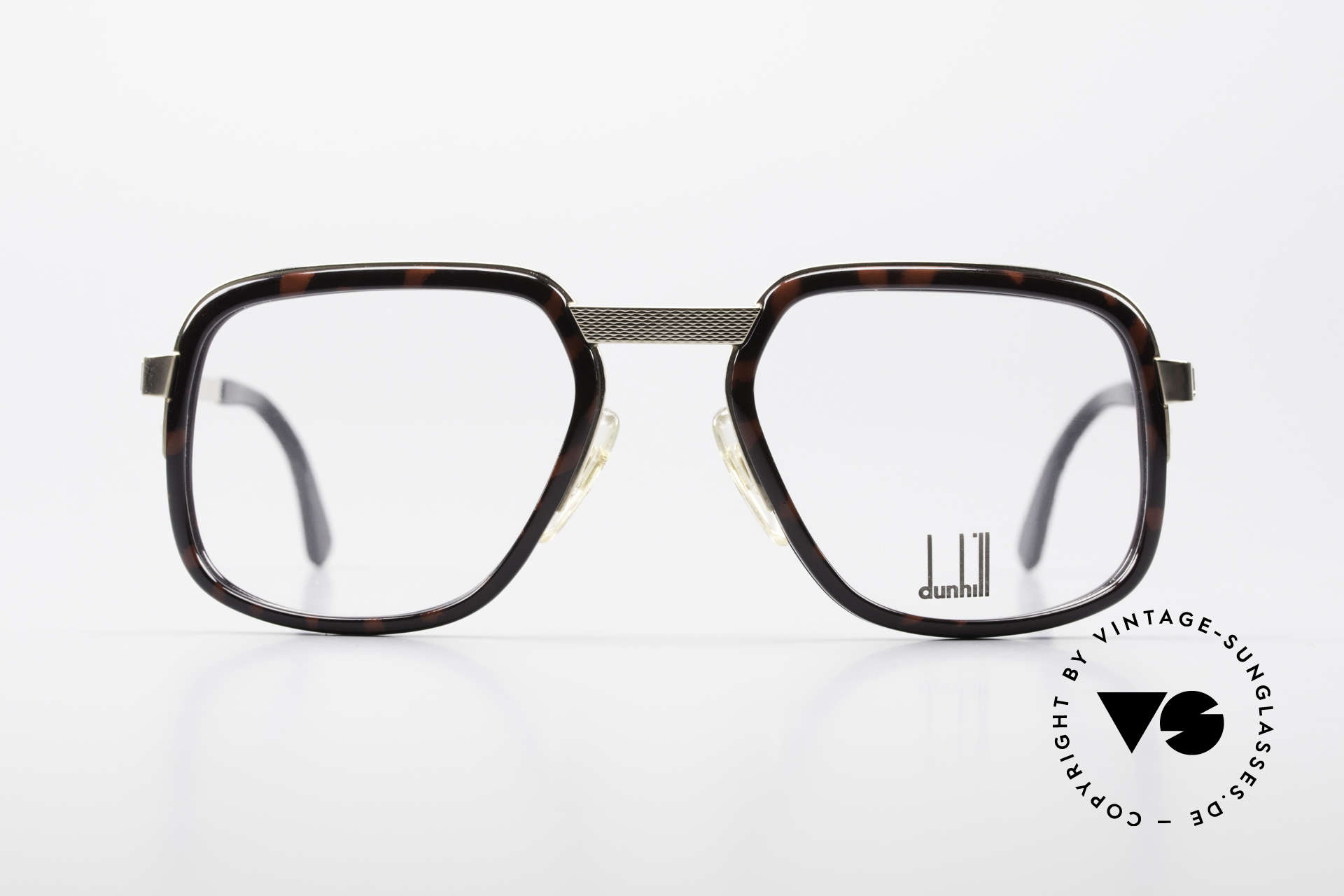 Dunhill 6073 Gold Plated 80's Men's Glasses, striking Alfred Dunhill vintage eyeglasses from 1989, Made for Men