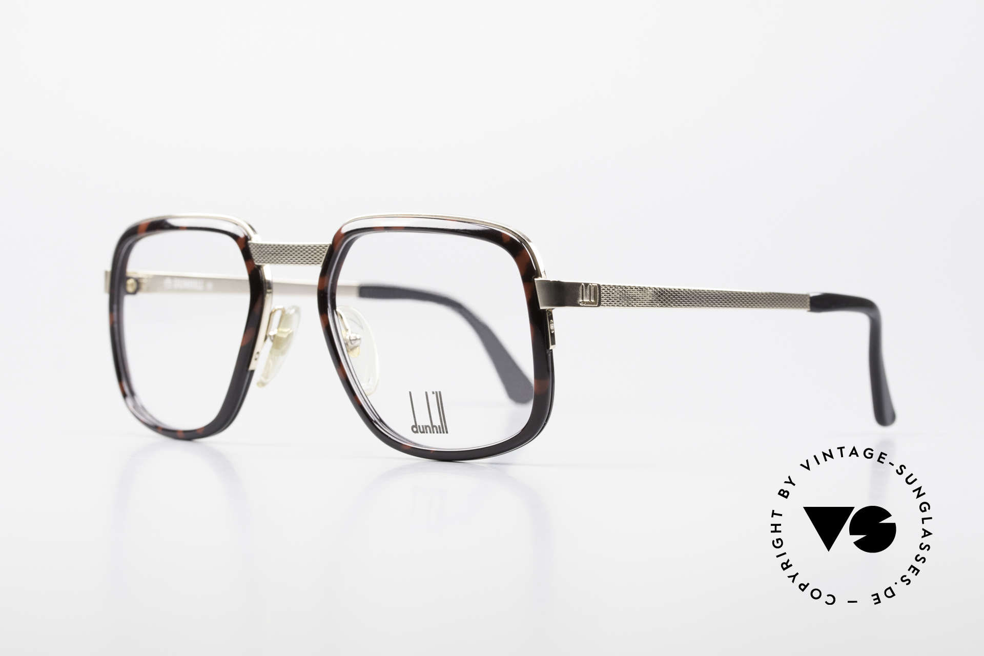 Dunhill 6073 Gold Plated 80's Men's Glasses, brilliant monolithic craftsmanship; gold-plated frame, Made for Men