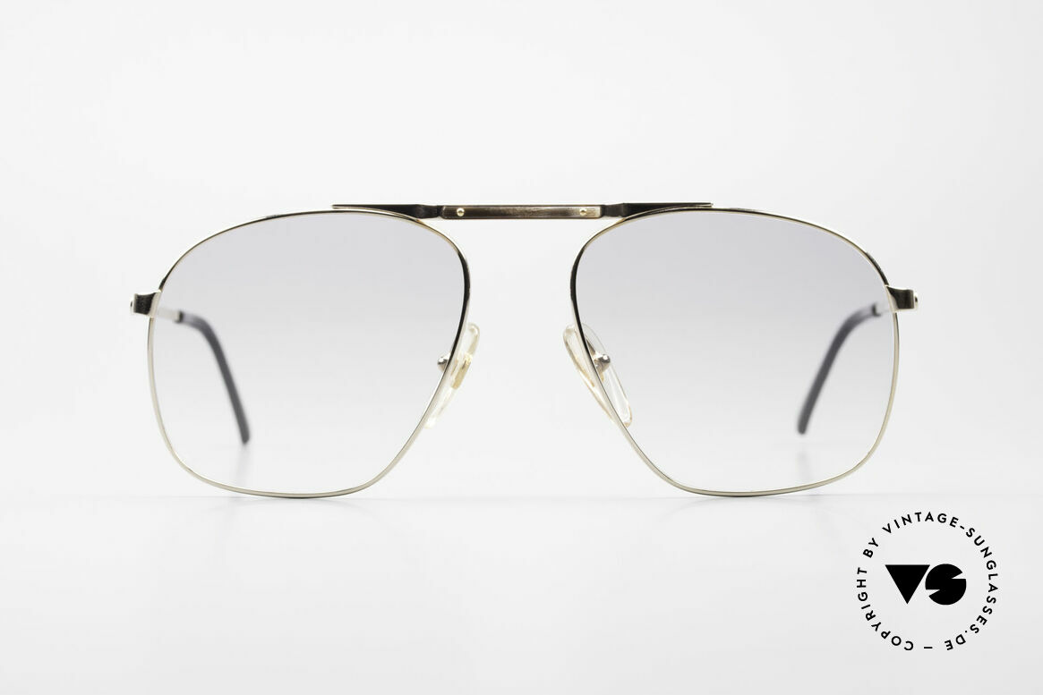 Dunhill 6046 80's Frame With Horn Appliqué, extremely noble men's glasses by Dunhill from 1987, Made for Men