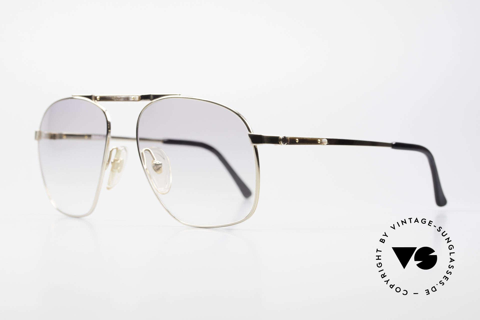 Dunhill 6046 80's Frame With Horn Appliqué, gold-plated metal frame with discreet horn appliqué, Made for Men