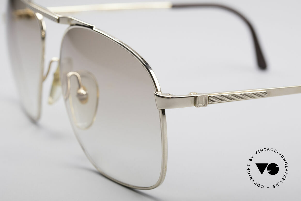 Dunhill 6046 80's Luxury Frame Gold Plated, classic status = a prerequisite for all Dunhill designs, Made for Men