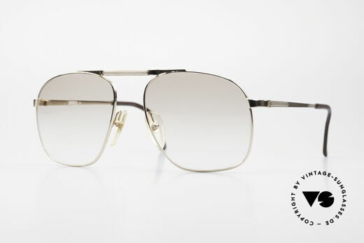 Dunhill 6046 80's Luxury Frame Gold Plated Details