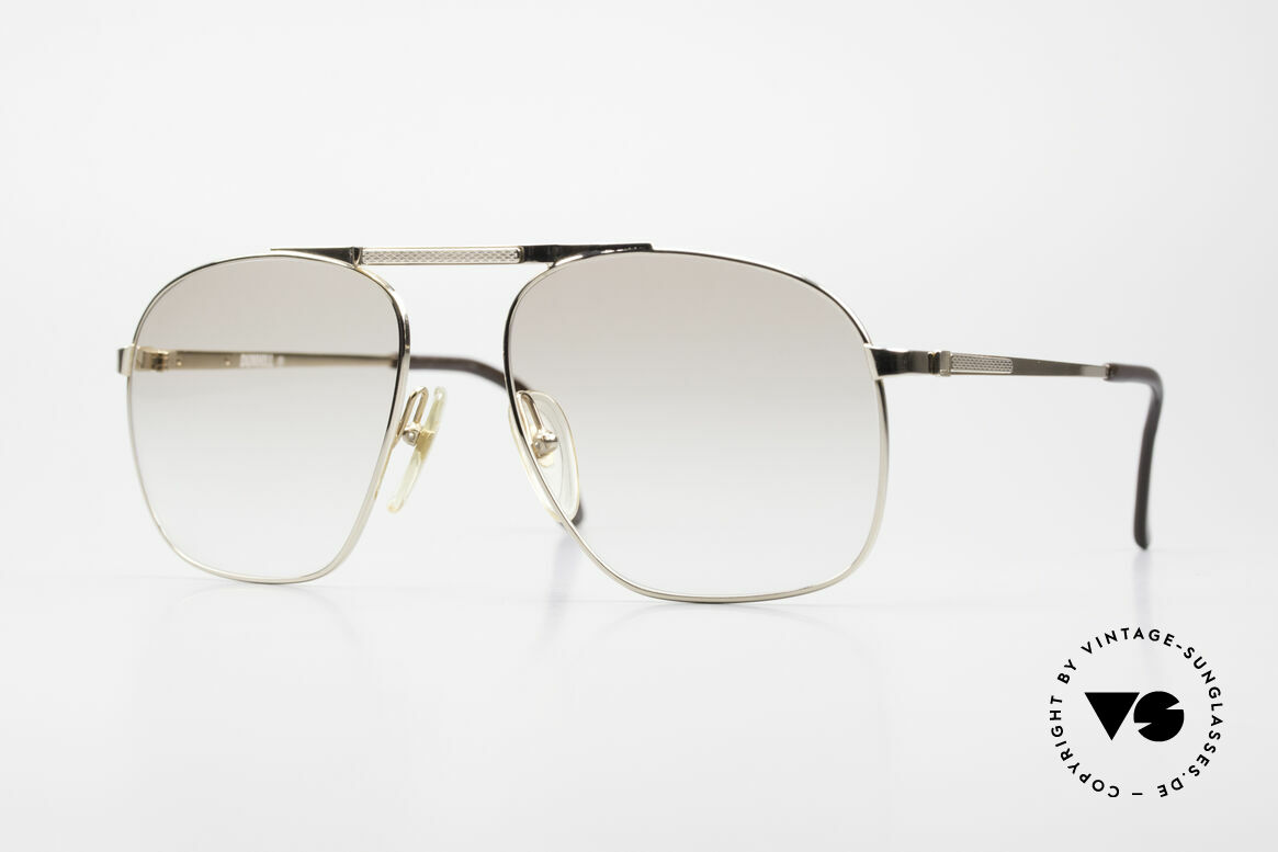 Dunhill 6046 80's Luxury Frame Gold Plated, ALFRED DUNHILL = synonymous with English style, Made for Men