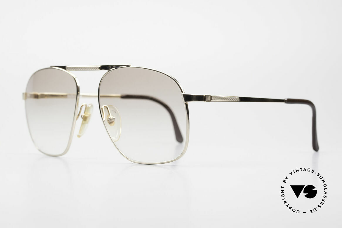 Dunhill 6046 80's Luxury Frame Gold Plated, gold-plated metal frame with light tinted sun lenses, Made for Men