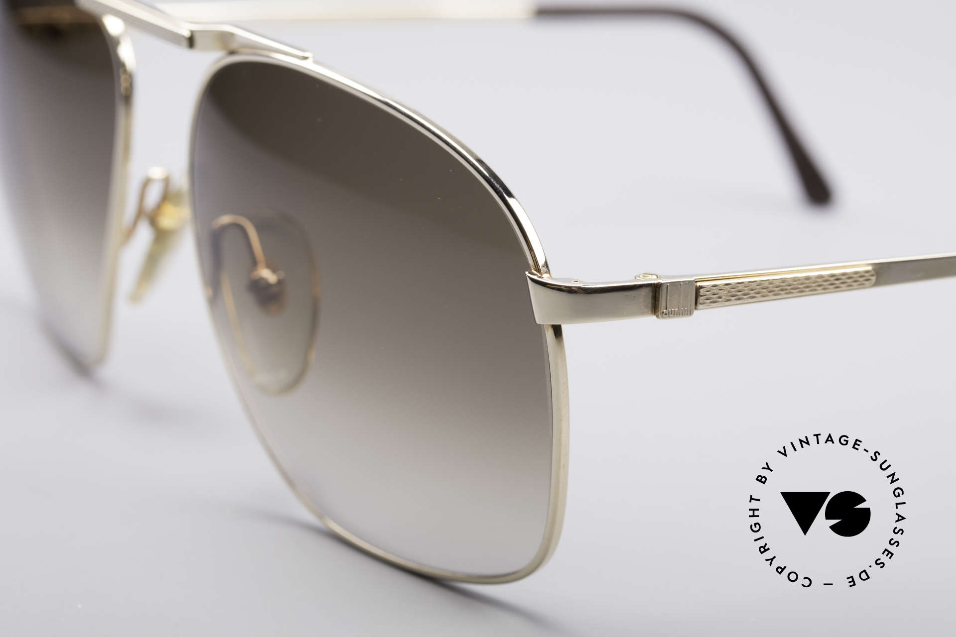 Dunhill 6046 Old 80's Aviator Luxury Glasses, classic status = a prerequisite for all Dunhill designs, Made for Men