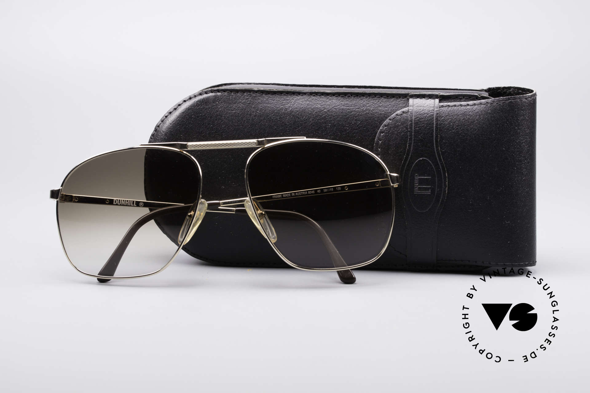 Dunhill 6046 Old 80's Aviator Luxury Glasses, NO RETRO pilots SHADES, but authentic 1980's rarity, Made for Men