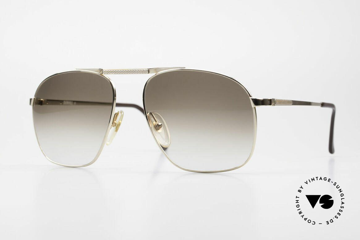 Dunhill 6046 Old 80's Aviator Luxury Glasses, ALFRED DUNHILL = synonymous with English style, Made for Men