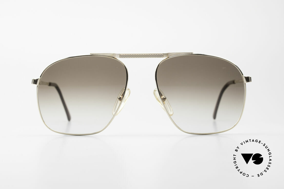 Dunhill 6046 Old 80's Aviator Luxury Glasses, extremely noble men's glasses by Dunhill from 1987, Made for Men