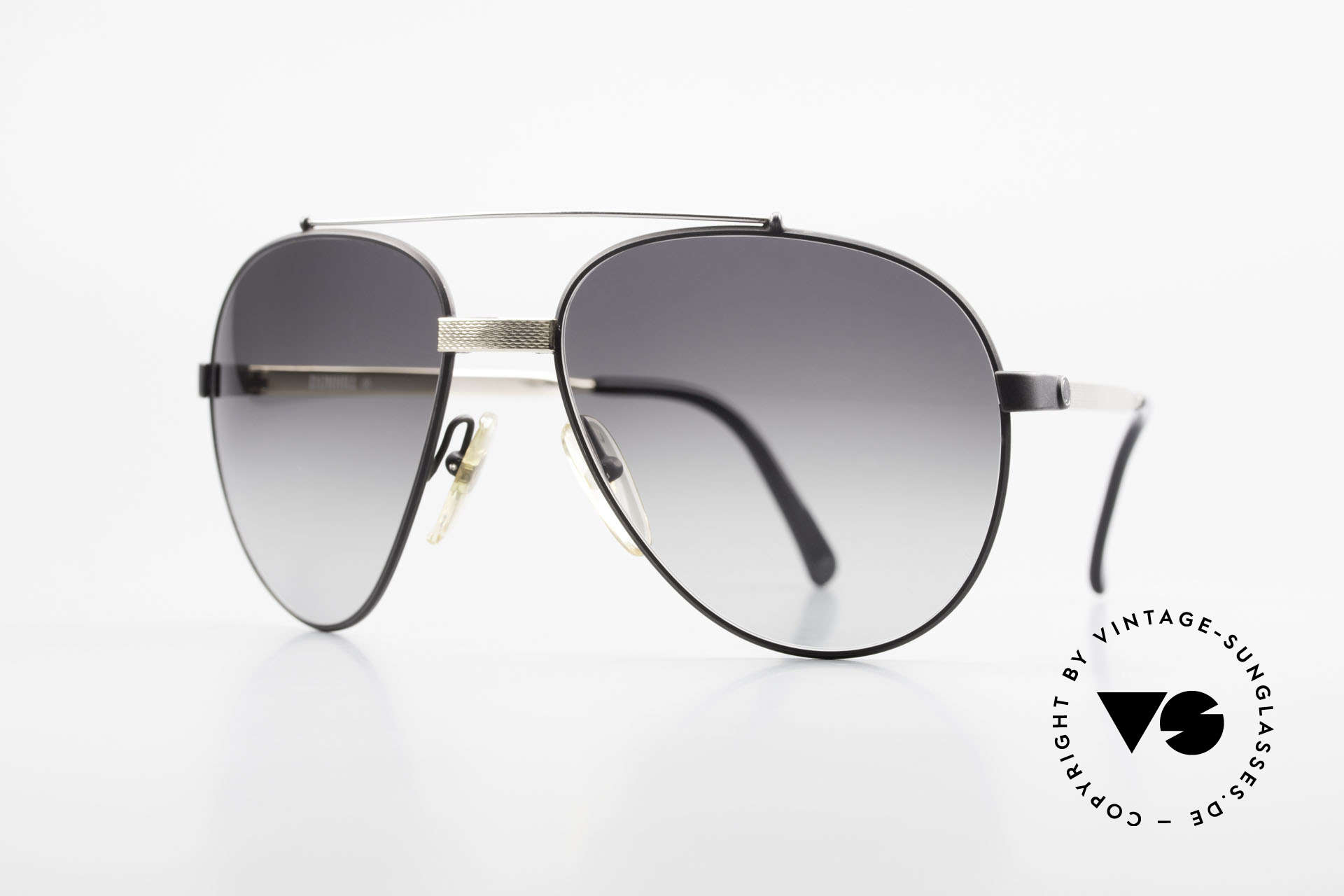 Dunhill 6023 80's Luxury Sunglasses Aviator, stylish A. Dunhill vintage sunglasses from 1983, Made for Men