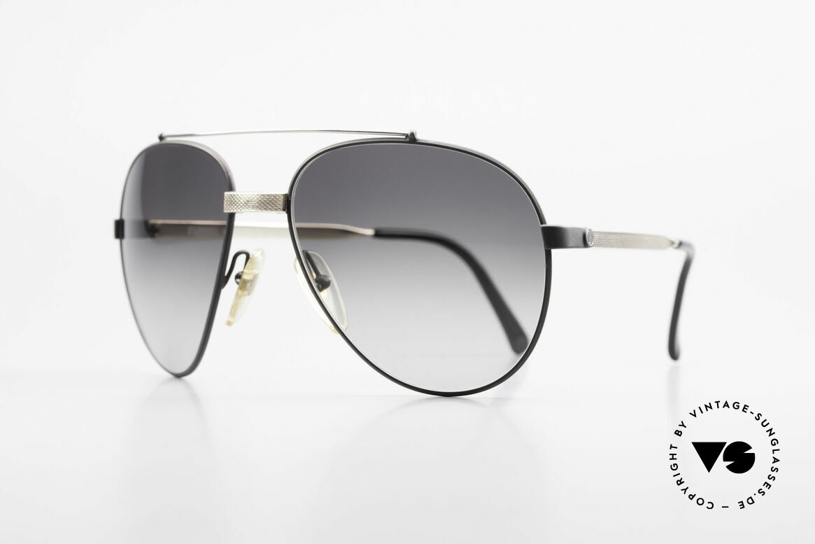 Dunhill 6023 80's Luxury Sunglasses Aviator, spring joint behind the bridge (excellent fitting), Made for Men
