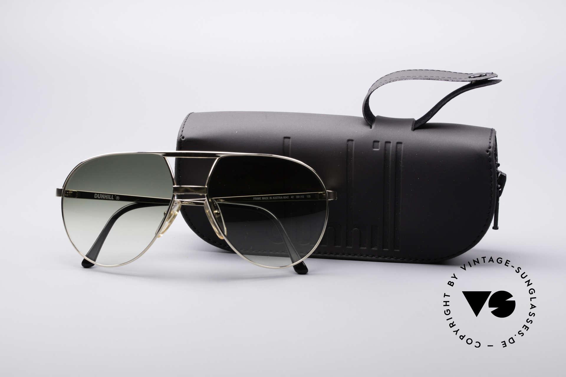 Dunhill 6042 80's Luxury Aviator Sunglasses, NO RETRO sunglasses, but an ORIGINAL from 1987, Made for Men